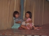Local girls playing in the longhouse