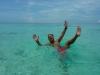 fooling around in the crystal clear waters of Sipadan