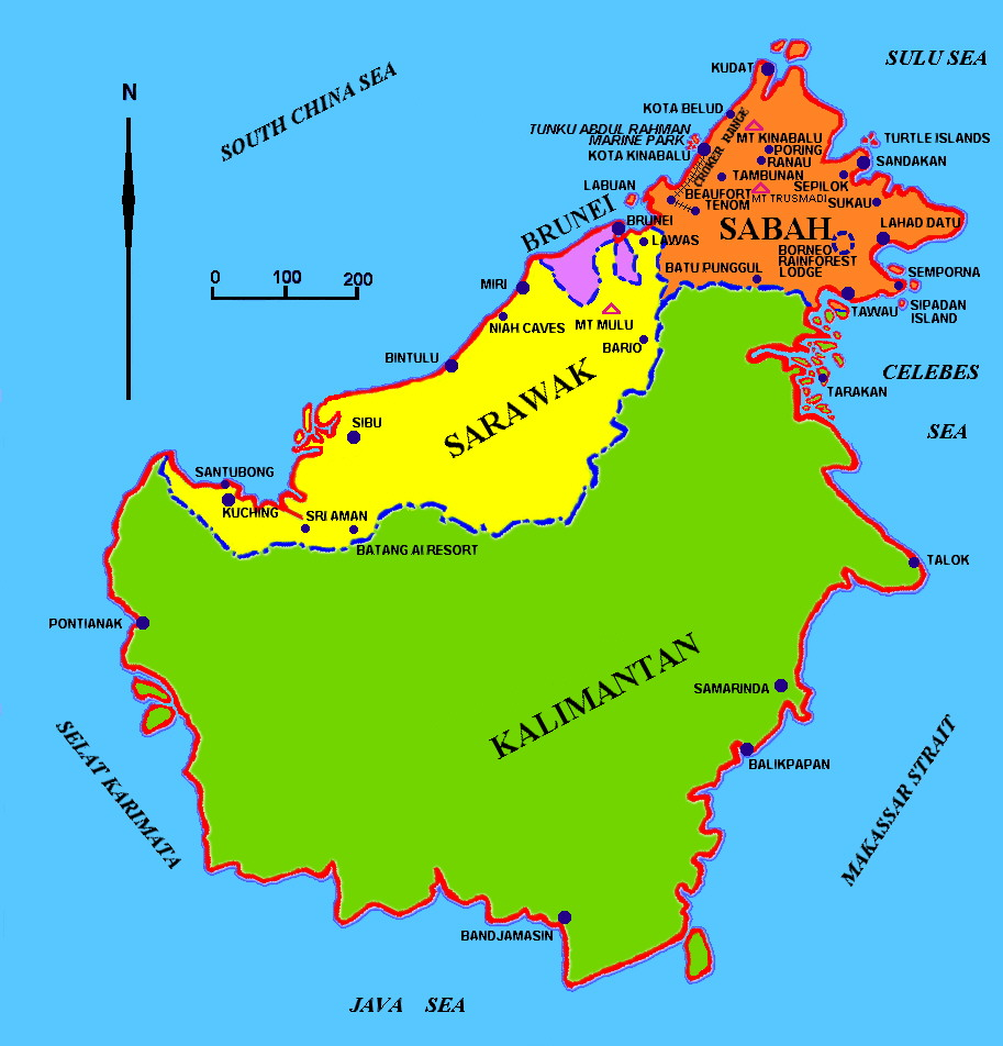 Visit to the sultanate of brunei darussalam meanwhile around the map of borneo gumiabroncs Image collections