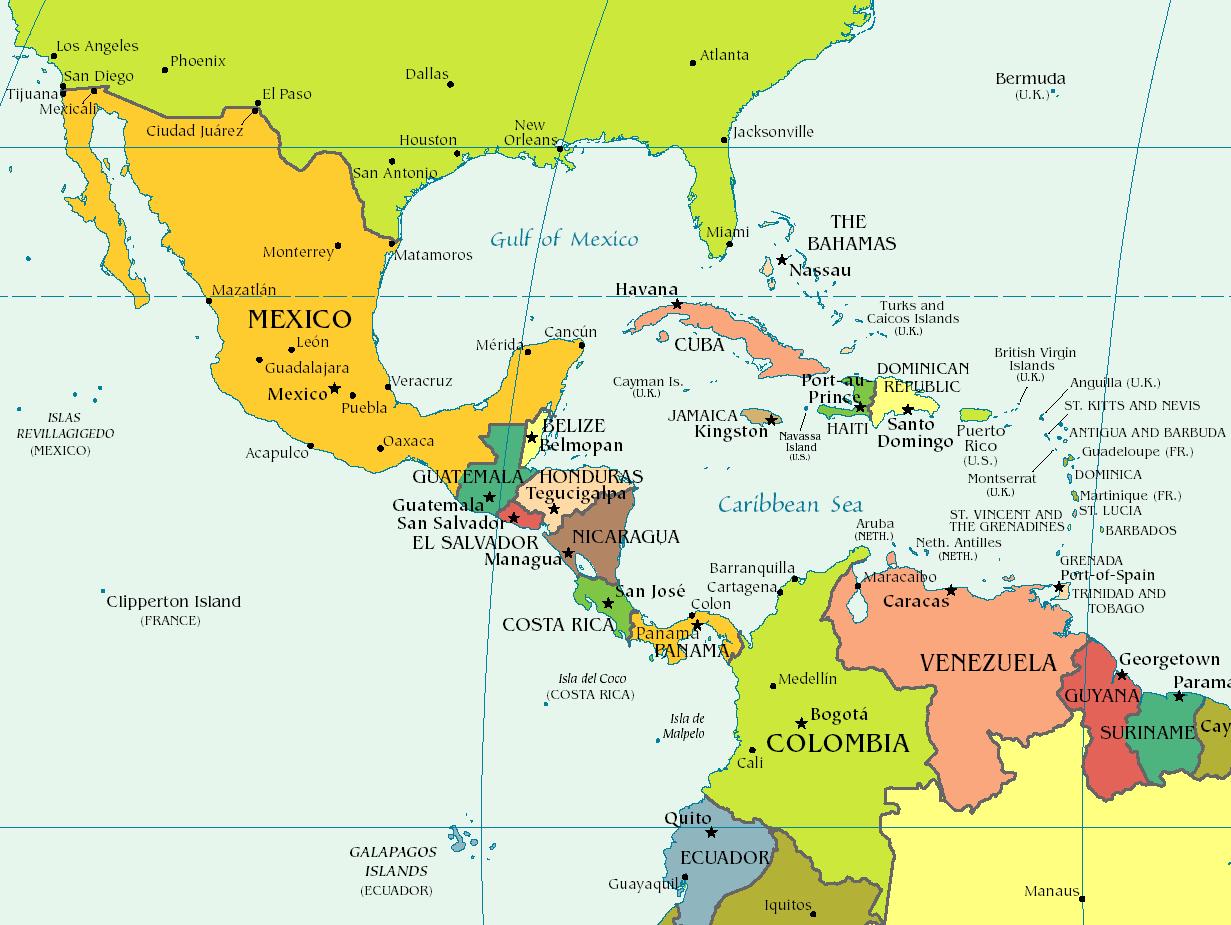 Carte Pays Amerique Centrale.Carte Amerique Centrale Meanwhile Around The World